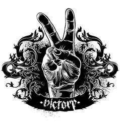 Decorative symbol of victory vector