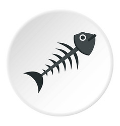 Fish bone icon circle vector