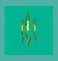 flat shading style natural triticum vector image vector image