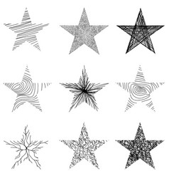 Hand-drawn sketch stars design vector