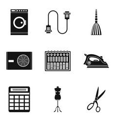 house cleaning icons set simple style vector image