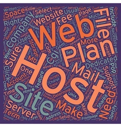 How to select a web site host text background vector