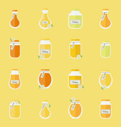 jars of honey seamless backgrond vector image vector image