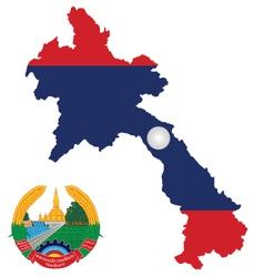 Laos Flag vector image vector image