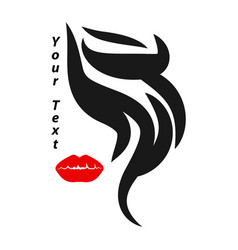 make-up and hair style logo vector image