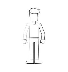 man faceless avatar vector image