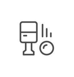 parking machine line icon vector image vector image