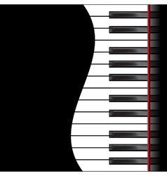 Piano on a black background vector image