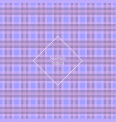 Plaid fabric cage back pattern vector
