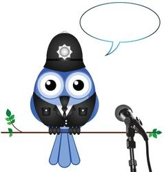 Policeman interview vector