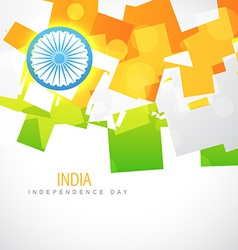 Shiny indian flag vector