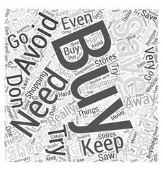 Sm temptations and money word cloud concept vector