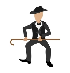 Tap dancer cartoon vector