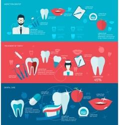 Teeth banner set vector image vector image