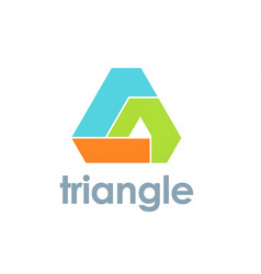 triangle pyramid technology logo vector image