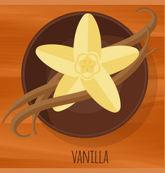 Vanilla flat design icon vector