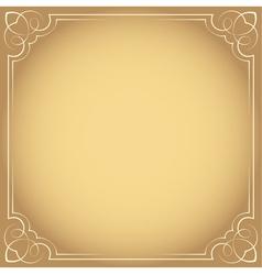 Vintage beautiful elegant frame Element for design vector image vector image