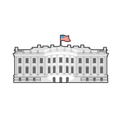 White house america residence of president usa us vector