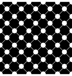 White Polka dot Chess Board Grid Black vector image