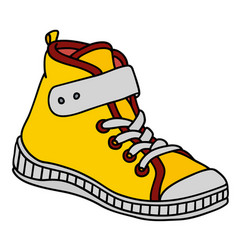 yellow childrens sneaker vector image