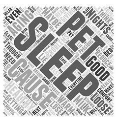 Healthy aging and a good nights sleep word cloud vector