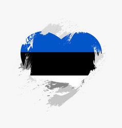 Flag of estonia vector