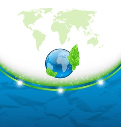 Eco background earth map and environment symbol vector image