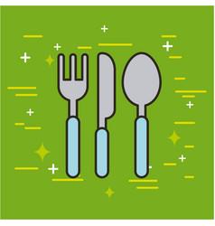 cutlery food vector image