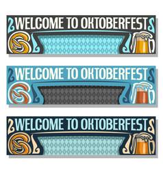 Oktoberfest banners vector