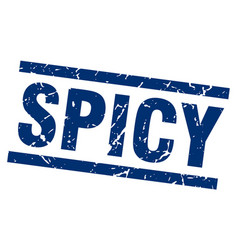 Square grunge blue spicy stamp vector