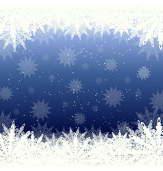 Winter background snow and snowflakes vector