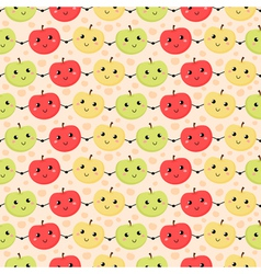 Seamless pattern of apples vector