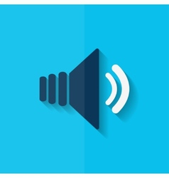 Speaker volume icon Flat design vector image