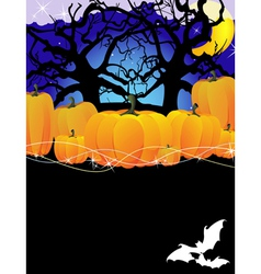 Pumpkins in the forest vector image