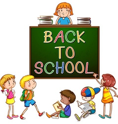 Back to school signboard vector