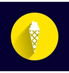 Sign abstract ice cream logo stylized vector