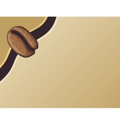 coffee bean template vector image