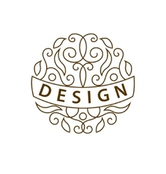 Monogram design elements english letters elegant vector