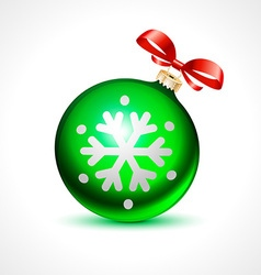 Christmas balls holiday background ribbon new vector
