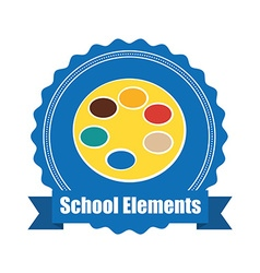 School elements design vector