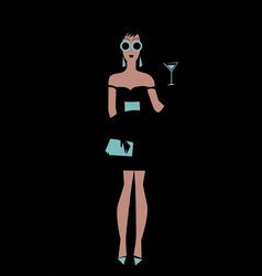 party girl poster vector image