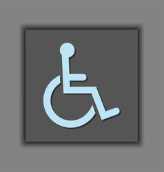 Abstract public access disabled symbol icon vector