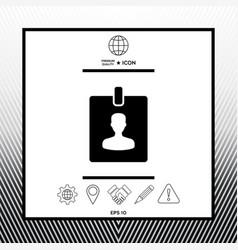 Badge symbol icon vector