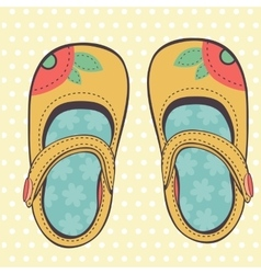 Beautiful baby girl shoes vector