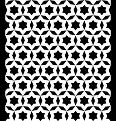 Black and white seamless ornament texture vector