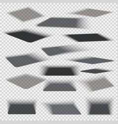 Box square shadows with soft edge isolated on vector