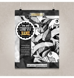 Business brochure design with detailed doodles vector
