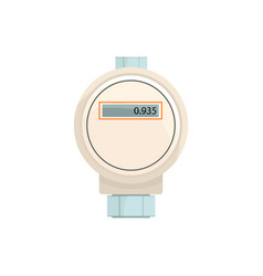 Domestic electric water meter household measuring vector