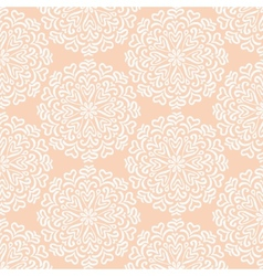 Elaborate hand-drawn white pattern on pink vector