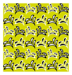 Floral pattern with alternate black and white vector image vector image